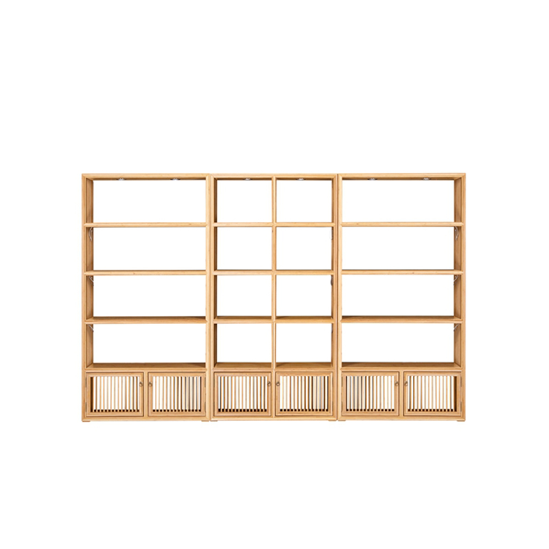 Bamboo Tea Display Cabinet Set Jingxin ZSGZH 003