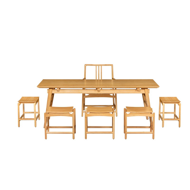 Bamboo Tea Table&Chairs Set Qujing Style ZYZH 003