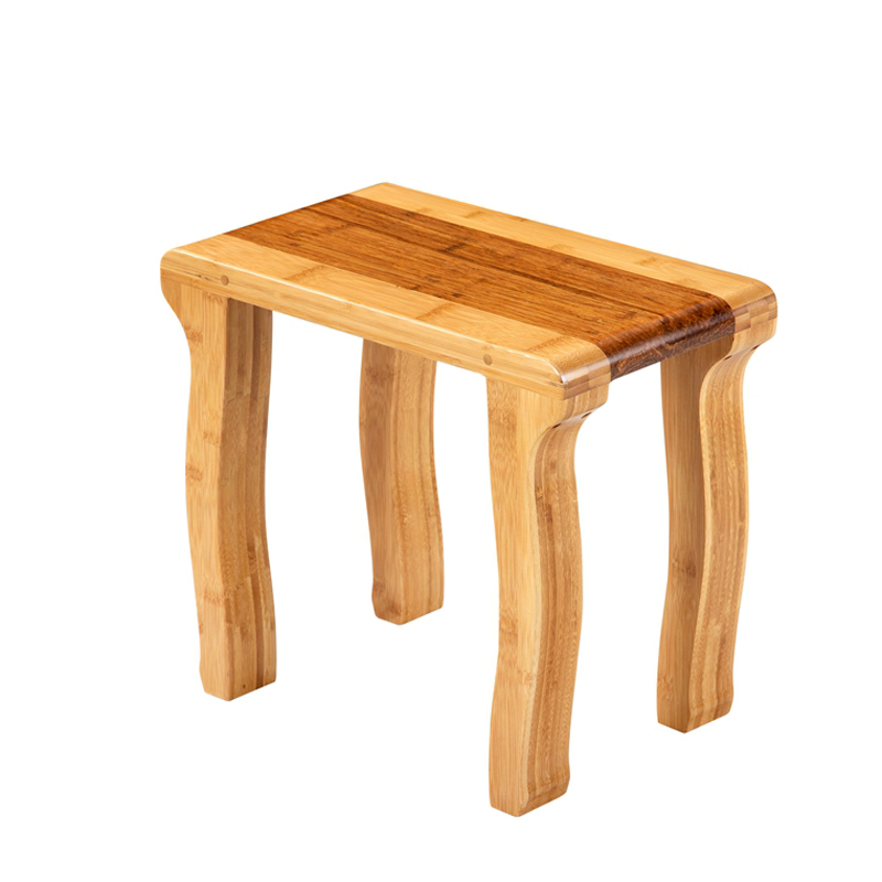 Bamboo Small Square Tea Stool Quyun Type CD 004
