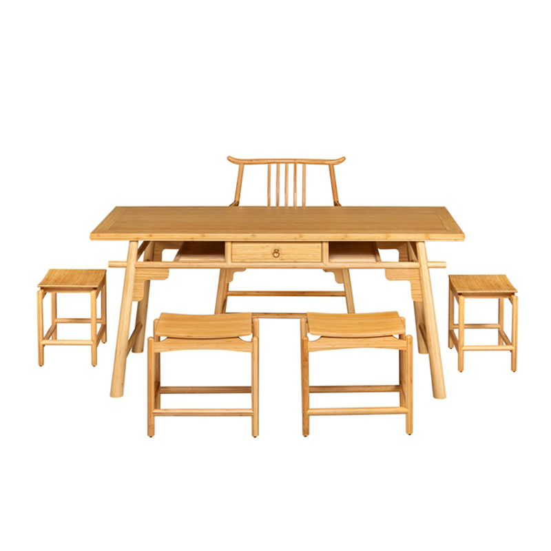 Bamboo Tea Table&Chairs Set Heyue Style ZYZH 004