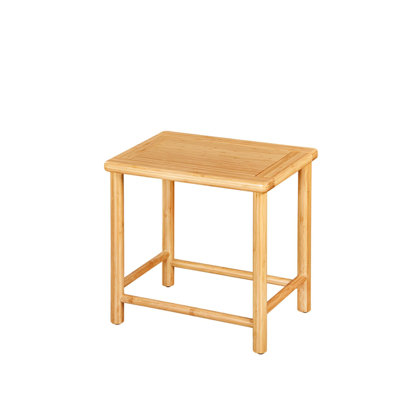 Bamboo Small Square Tea Stool Ruyi Type CD 005