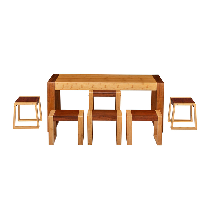 Bamboo Tea Table&Chairs Set Zen Style ZYZH 005