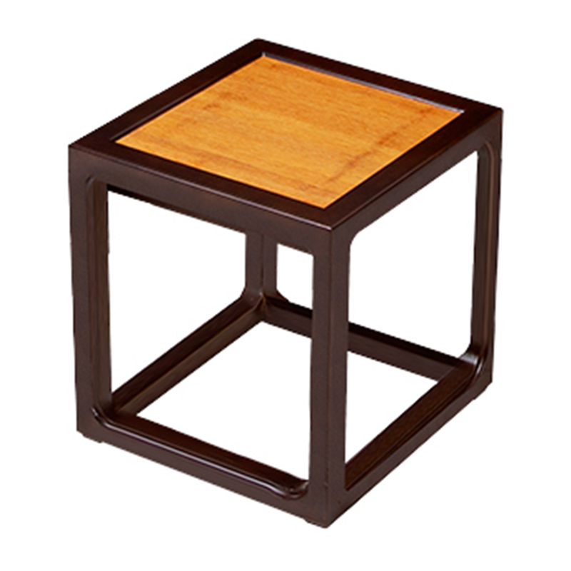 Bamboo Small Square Black Tea Stool CD 006