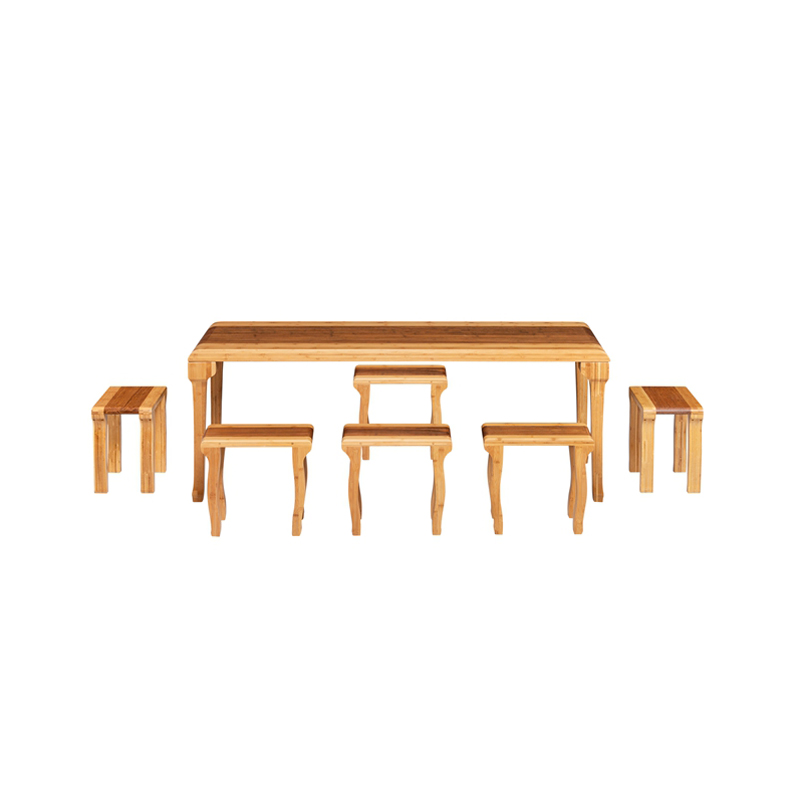 Bamboo Tea Table&Chairs Set Quyun Style ZYZH 006
