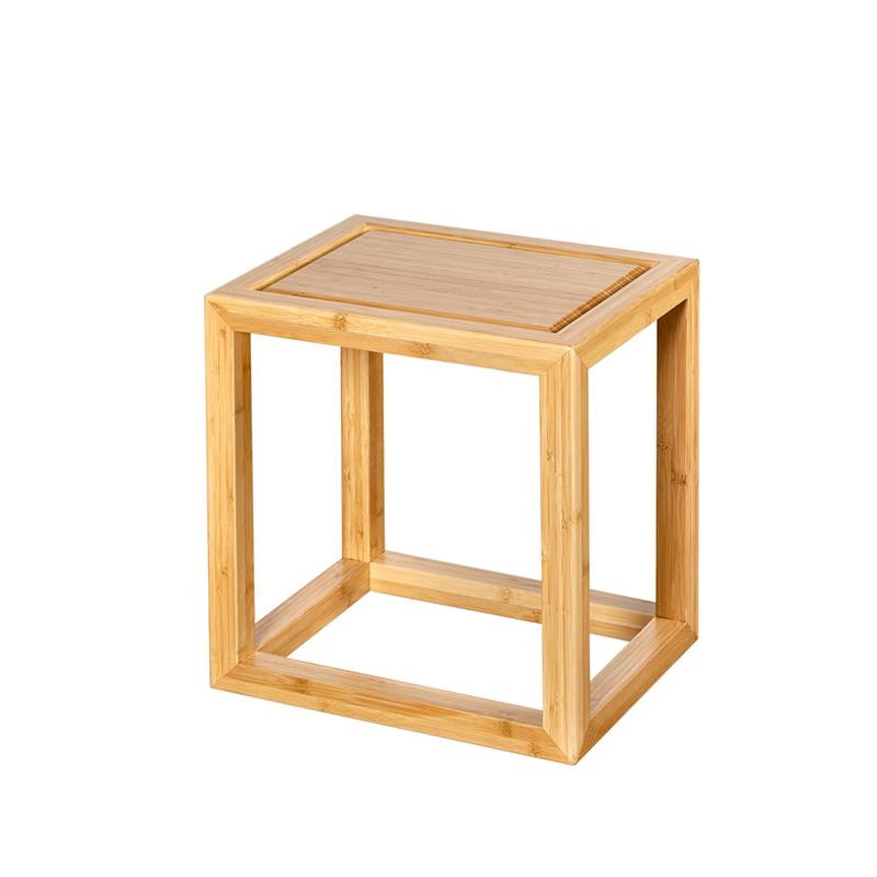 Bamboo Small Square Tea Stool CD 007