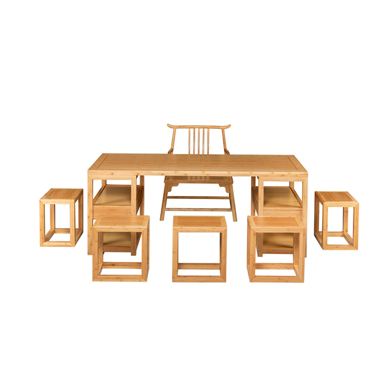 Bamboo Tea Table&Chairs Set Fangyi Style ZYZH 008