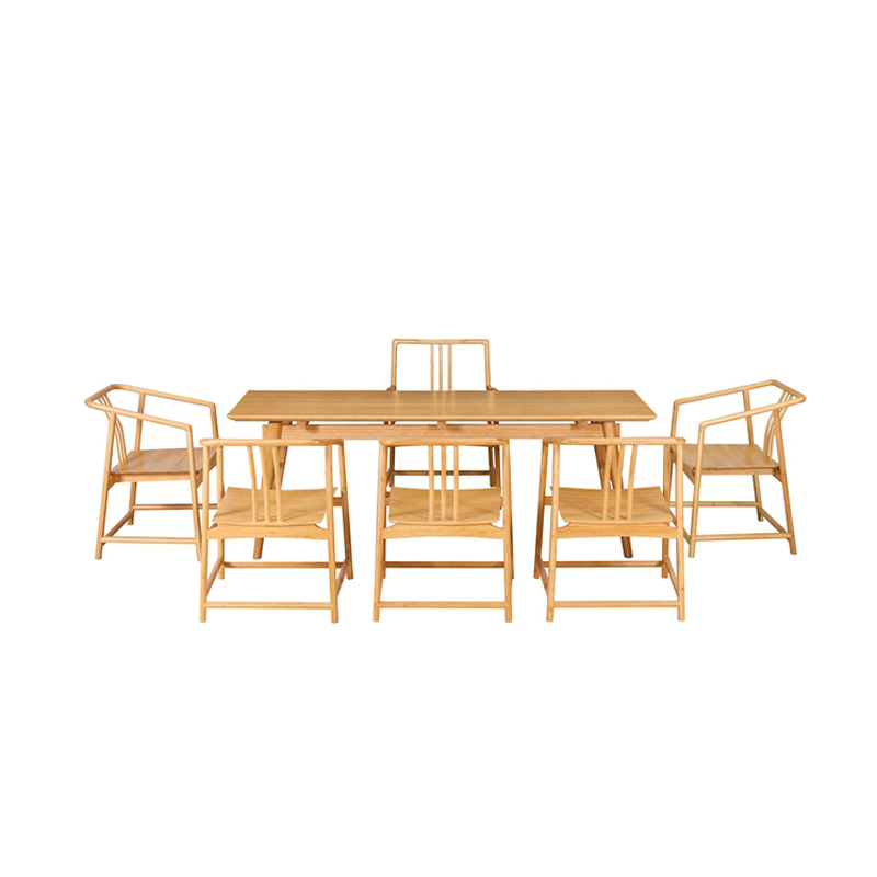 Bamboo Tea Table&Chairs Set Qujing Style ZYZH 009