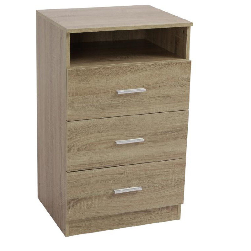 Three Drawers' Cabinet Storage Cabinet With Shelve LHKT-1018