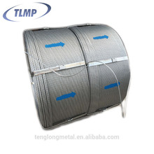12.7mm high tensile strength galvanized wire steel strand