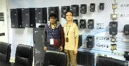 Welcome Our customer from Saudi Arabia visit our POWTECH factory vfd solar inverter and softstarter  prefessional supplier