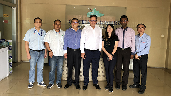 In July 2018, TDK customer representatives visited our company