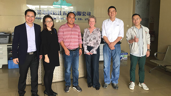 In March 2019, the US company CROSS visited our factory.