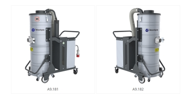 Industrial dust extraction units for powder cleaning, vacuum cleaner features