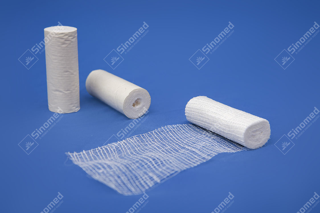 High Quality Cotton Fabric Medical White Gauze Bandage Roll Cheap Price Supplier