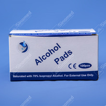 High quality alcohol swab after injection for skin cleaning care alcohol wipe pad