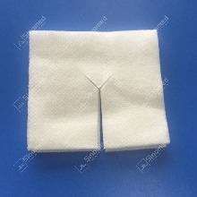 Customized handy gauze swabs medical disposable white Y hatch non woven swabs compress surgical absorbent sterile gauze