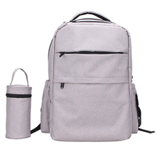 Grey diaper bag stylish water resistance hanging baby bag