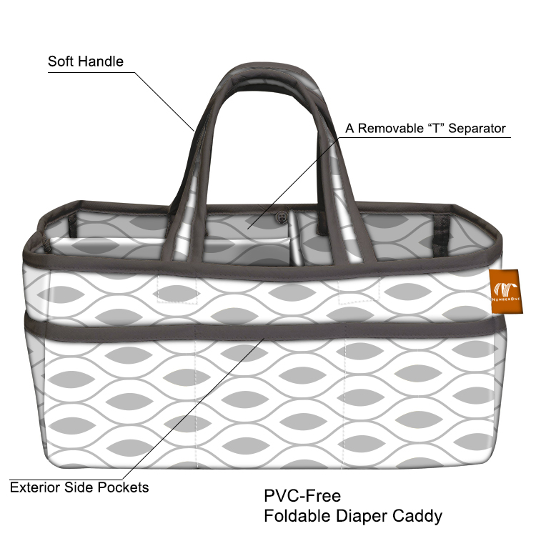 Foldable Bedside Storage Bag Hanging Diaper Caddy Organizer For canada