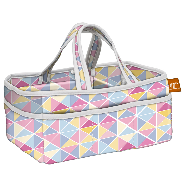 Portable organizer storage felt baby diaper caddy basket bag