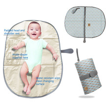 portable baby changing padded mat foldable waterproof