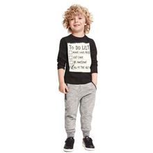 T shirt and casual long pants kid cloth set