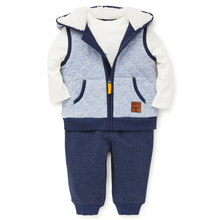 Blue hooded vest stylish kids clothes