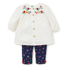 Floral charm woven tunic  childrens clothing