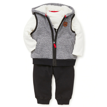 Grey hooded vest stylish kids clothes