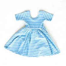 Wholesale baby girls short sleeve knit cotton dress