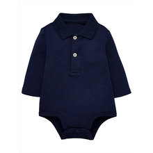 Baby cotton romper boys polo collar bodysuit