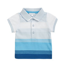Chinese new design striped t shirts short sleeve baby boy polo t shirt latest design