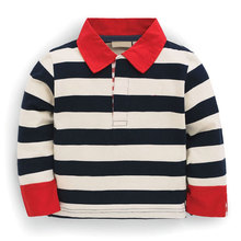 Custom design cotton yarn dyed striped t shirt casual long sleeve polo t shirt