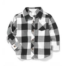 Baby boys shirt wholesale baby boy plaid shirt