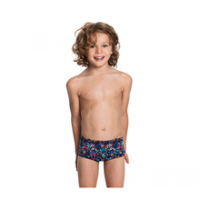 Custom printed swimming shorts boys swim trunks  for kids