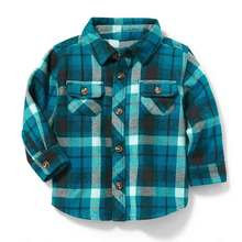 Fashion autumn baby boys plaid shirt