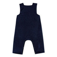 Stripes denim newborn baby overalls