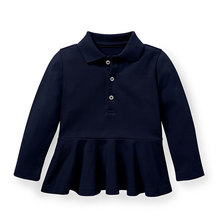 Wholesale baby girls polo shirt customised cute school uniforms