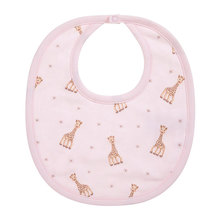 China factory cotton and silicone plain  baby cotton bib