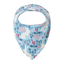 Soft cotton bib with snaps cute baby bandana bibs