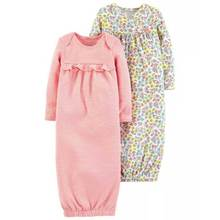 Wholesale children long sleeve kid soft one piece gowns