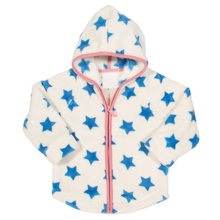 Long sleeve hooded zip fleece jackets girls