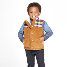 Good quality comfortable boys corduroy vest