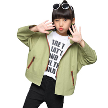 High quality girl jacket children trench jacket