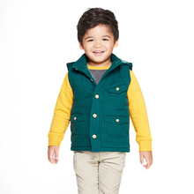 Hot children canvas hooded vest