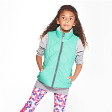 New children reversible puffer vest