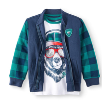 New fashion design 2 piece set boy jacket