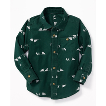 New design boys printed pocket shirt