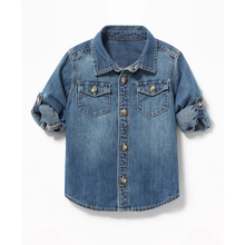 New fashion boy denim shirt