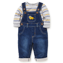 Hot selling denim overalls kids clothe