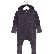 Infant boys hooded baby romper